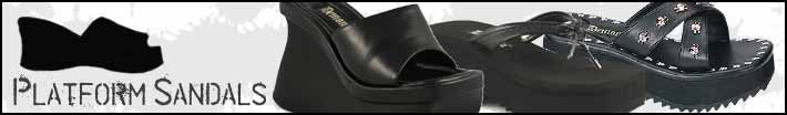 Thong style platform sandals