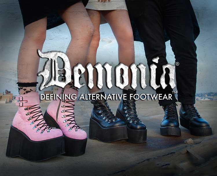 Shop Demonia boots and shoes