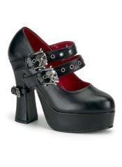 DEMON-16 Skulls Buckle Shoes