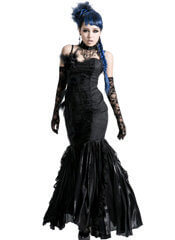 Black Peacock Feather Dress