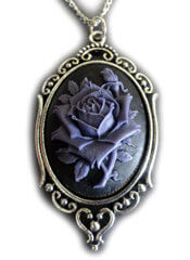 Purple Victorian Rose Cameo