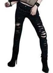 Shredded Jeans Black
