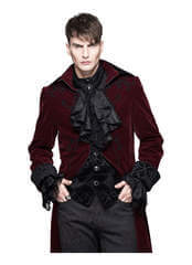 Devil's Fashion Red Velvet Tailcoat