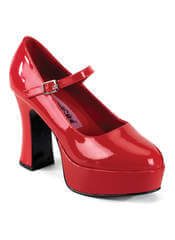 MARYJANE-50 Red Platform Heels