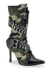 MILITANT-128 Camo Heel Boots