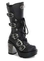 SINISTER-203 Chromed Heel Boots