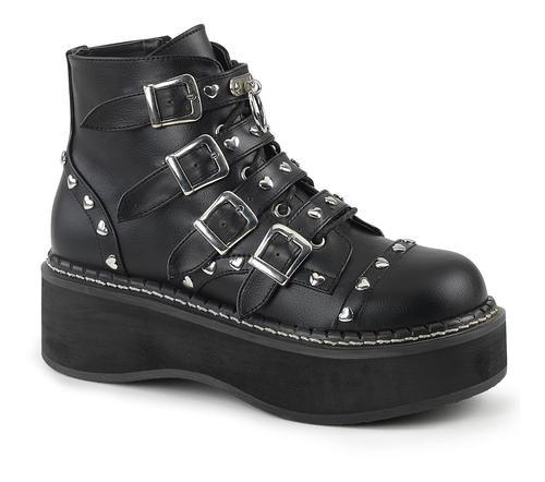 057fba4ba75 EMILY-315 Heart Studded Platform Boots