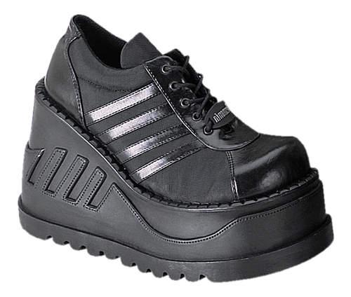 timeless design b15eb c09b7 STOMP-08 Black Platform Shoes