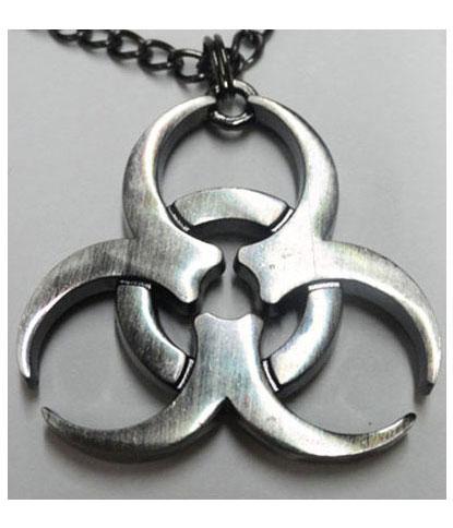 Biohazard Pendant Necklace