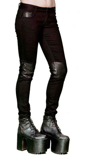 Lip Service Skinny-Stretch Black Denim - Clearance (26)