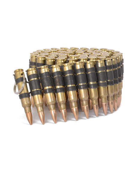 .223 Brass with black links bullet belt