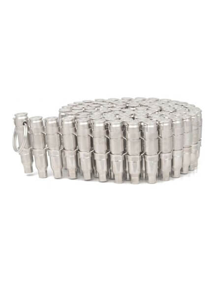 .223 Bullet Belt No Tips, all silver