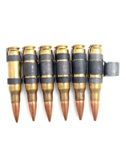 308 Brass with black links bullet belt Extension