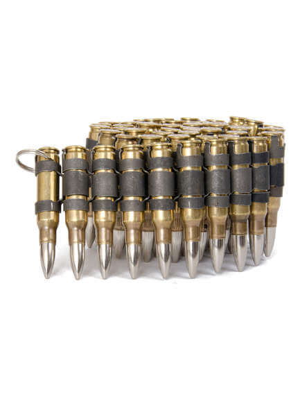 .308 Brass Black and Nickel Bullet Belt