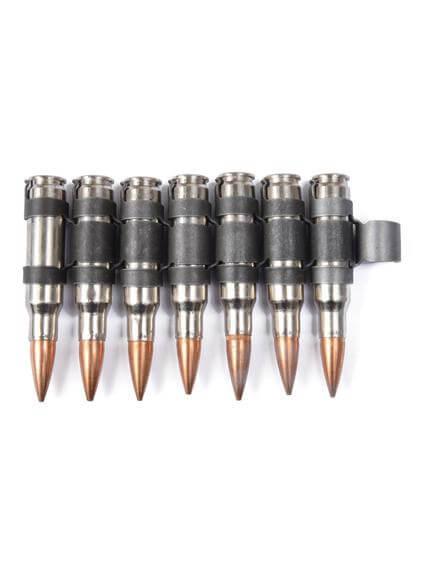 308 Silver Black Copper Bullet Belt Extension