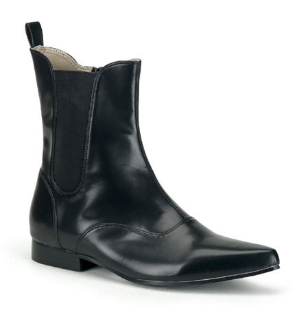 BROGUE-02 Black Beatle Boots