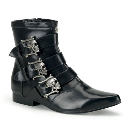 BROGUE-06 Skull Buckle Boots