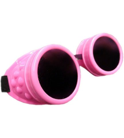Plain Fluorescent Pink Goggles