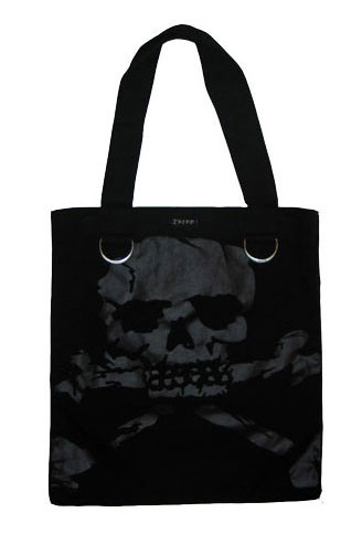Black Skull Shoulder Bag Denim