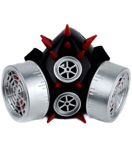 Porcupine Silver Red Respirator