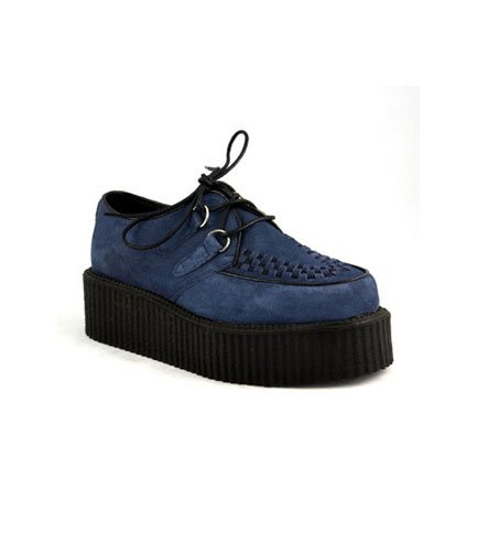 CREEPER-402S Blue Suede Creepers