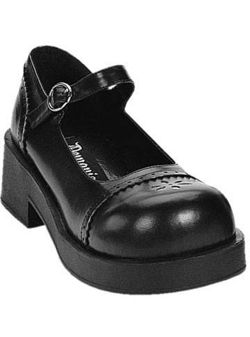 CRUX-07 Black Maryjane Shoes