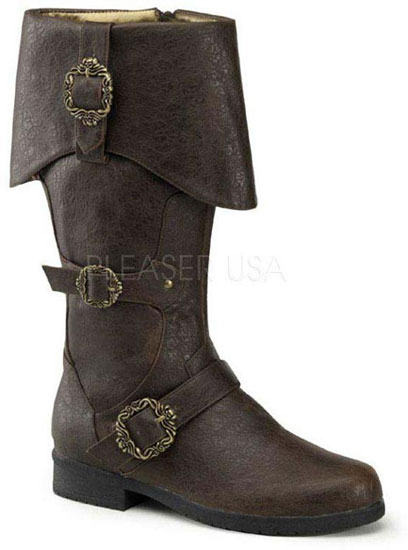 CARRIBEAN-299 Brown Buckle Boots