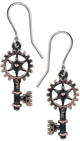 Clavitraction Steampunk Earrings