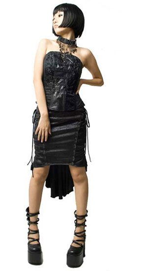 Cracked Leather Skirt