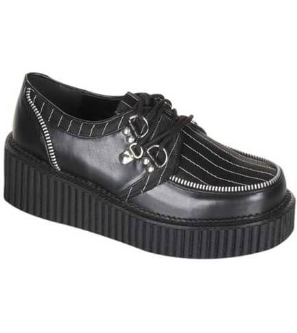 CREEPER-113 Pinstripe PU Creepers