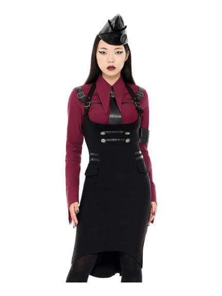 Darkwave Division Midi Skirt