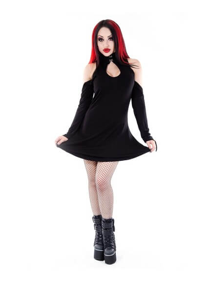 Daena Gothic Key Hole Dress