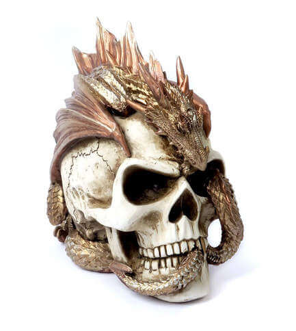 Dragon Keeper's Skull Figurine