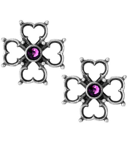 Elizabethan Cross Stud Earrings
