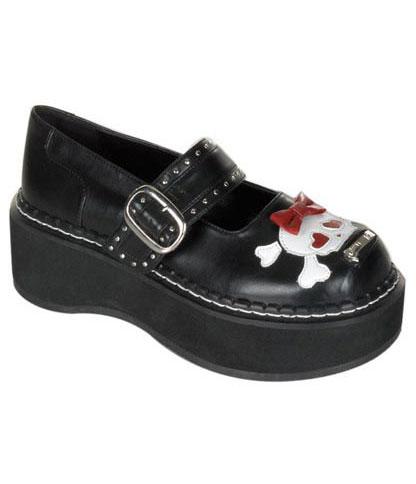 EMILY-221 Maryjane Skull Shoes