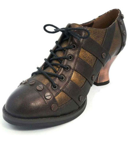 JADE Brown Steampunk Pumps