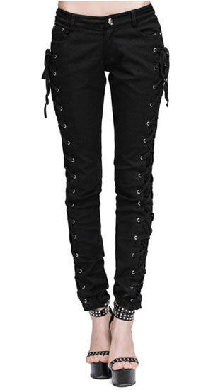 Lethia Side Lace Gothic Jeans