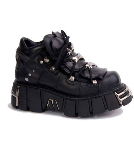 New Rock M106-S1 Black Platform Shoes