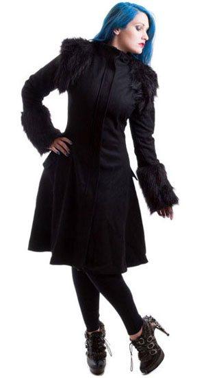 Morrigan Faux Fur Real Wool Coat