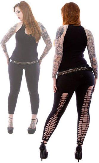 Gothic Kali Slashed Leggings