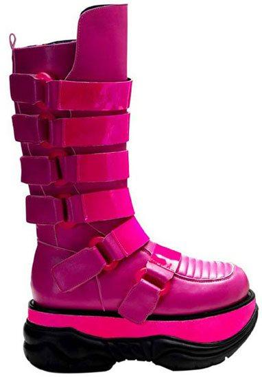 NEPTUNE-310UV Hotpink Cyber Boots
