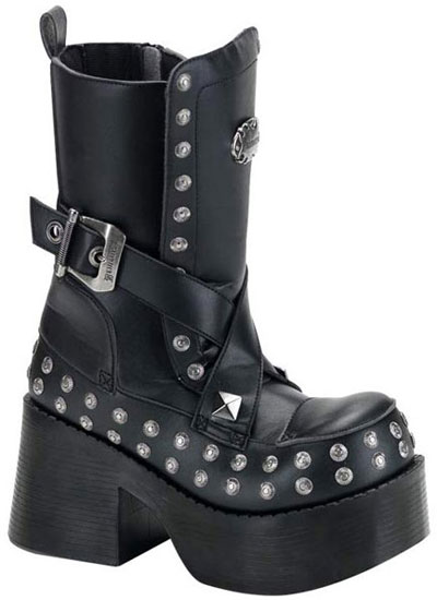 PLATOON-205 Black Crisscross Boots