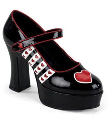 QUEEN-55 Queen of Hearts Heels