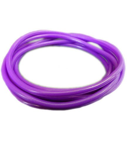 Purple Rubber Bangle (Set of 6)