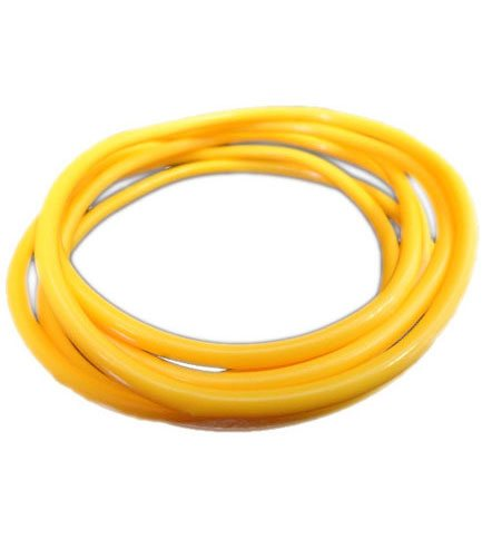 Yellow Rubber Bangle (Set of 6)