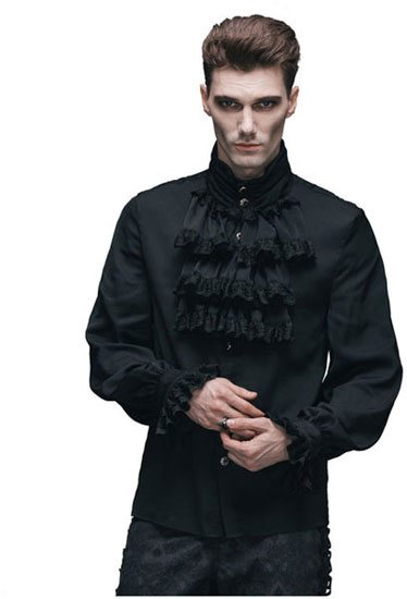 Raphael Black Gothic Ruffle Shirt