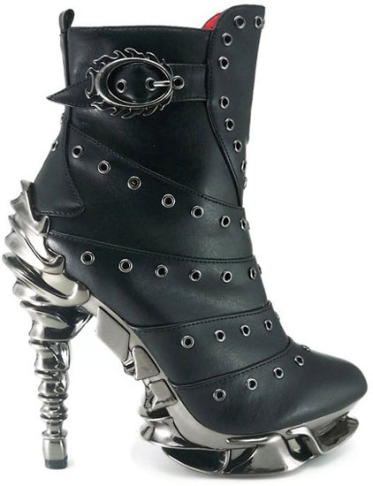Raven spinal high heel boots