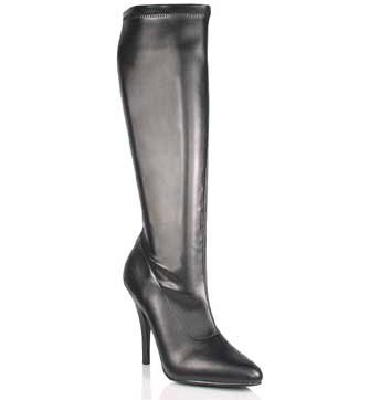 SEDUCE-2000 Black Stretch Boots
