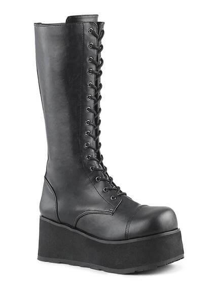 TRASHVILLE-502 Black Platform Boots