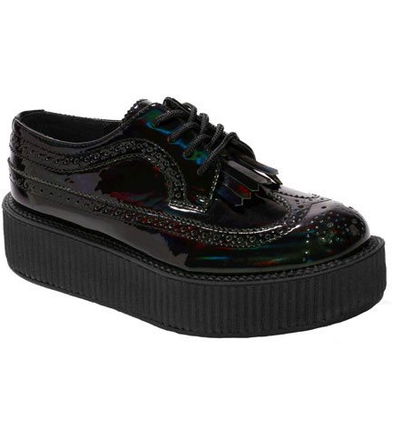 T.U.K. V8949 - Iridescent Vegan Creepers - Clearance